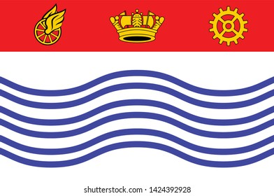 Flag of Barrie is a city, and manifesting regional centre in Central Ontario, Canada. Vector illustration