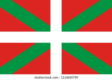 Flag of Basque Country officially the Basque Autonomous Community in northern Spain. Vector illustration