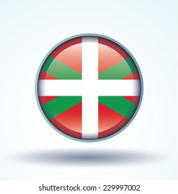 Flag of Basque country, vector illustration