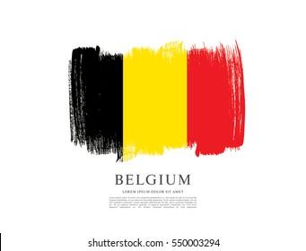 Flag of Belgium, brush stroke background