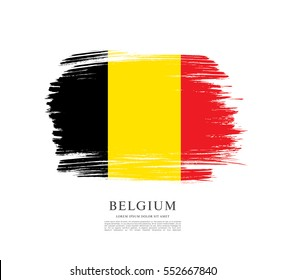 Flag of Belgium, brush stroke background