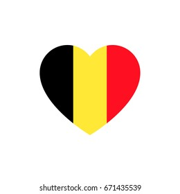 Flag of Belgium heart silhouette