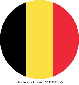 flag of belgium illustration vector eps