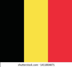 Flag of Belgium vector illustration