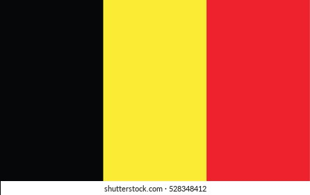 Flag of Belgium vector illustration