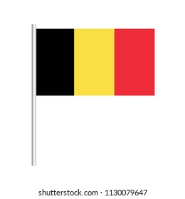 Flag of Belgium.Belgium  Icon vector illustration,National flag for country of Belgium isolated, banner vector illustration. Vector illustration eps10.