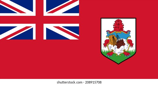 Flag of Bermuda. Vector. Accurate dimensions, element proportions and colors.