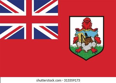 Flag of bermuda. Vector illustration.