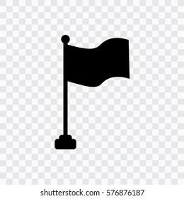 flag - black vector icon, transparent background