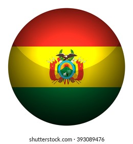 Flag of Bolivia  Glossy Button