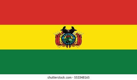 Flag of Bolivia  state , Vector Illustration