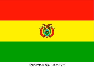 Flag of Bolivia vector illustration