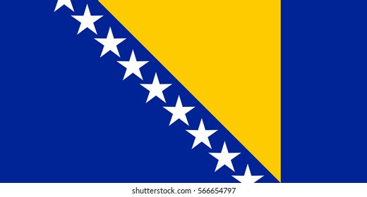 Flag of Bosnia and Herzegovina.