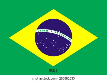 Flag of Brazil. The right size. Official