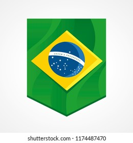 Flag of Brazil in the shape of a flamula