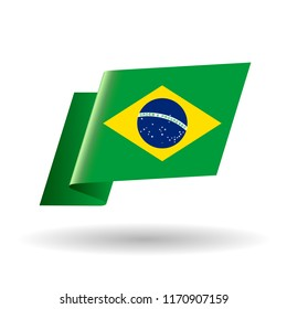 Flag of Brazil, vector illustration,