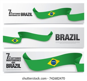 Flag of Brazil, vector illustration, card layout design