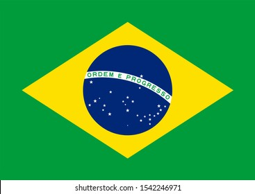 Flag of Brazil Vector illustration eps 10