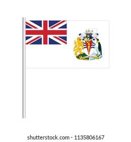 Flag of British Antarctic Territory.British Antarctic Territory Icon vector illustration,National flag for country of British Antarctic Territory isolated, banner vector illustration. Vector illustrat
