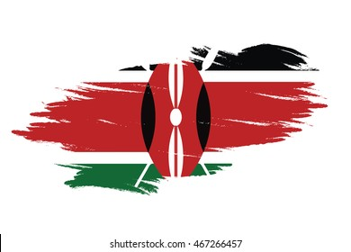 flag brush Flag of Kenya
