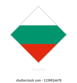 Flag of Bulgaria participant of the Europe football competition. Vector flag.