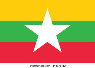 flag Burma, Flag Myanmar