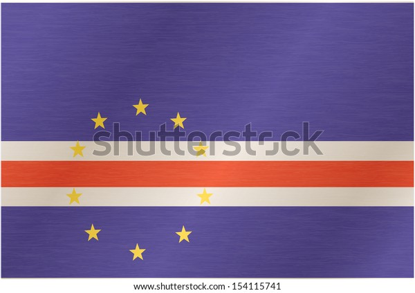 Flag of Cabo Verde. Illustration over white background