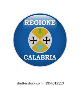 Flag Calabria button