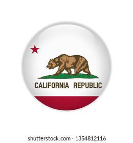 Flag California button