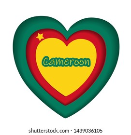 Flag of Cameroon, Republic of Cameroon. Award template, official document with flag of Cameroon. Bright, colorful vector illustration..