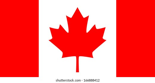 Flag of Canada. 'The Maple Leaf'. Vector. Accurate dimensions, element proportions and colors.