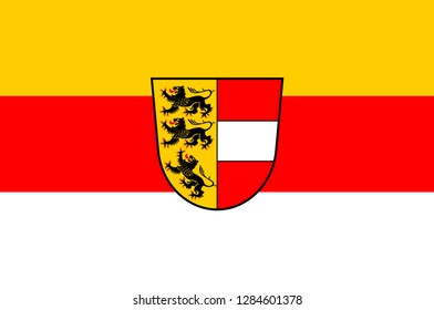 Flag of Carinthia is the southernmost Austrian state or Land. Vector illustration