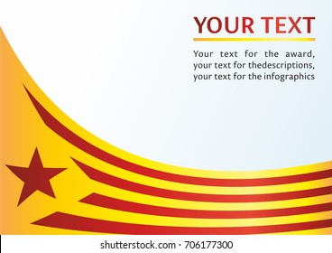 Flag of Catalonia, Autonomous communities of Spain, is an unofficial flag Catalan separatists, template for the award, an official document with the flag of Catalonia