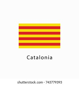 Flag of Catalonia vector illustration. Referendum Catalonia flag. Independence of Catalonia.