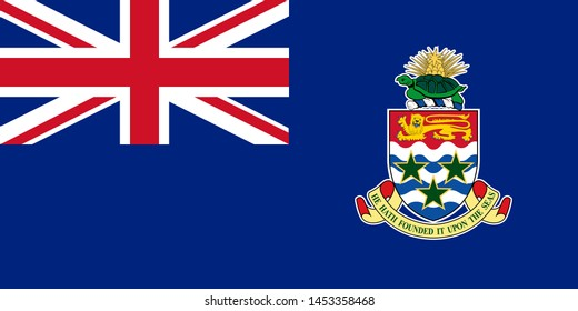 Flag of The Cayman Islands is an autonomous British Overseas Territory in the western Caribbean Sea. Vector illustration