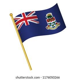 Flag of Cayman Islands,Cayman Islands  flag Golden waving isolated vector illustration eps10.