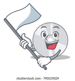 With flag CD mascot cartoon style
