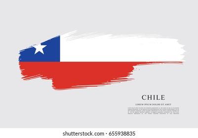 flag of chile brush stroke background ez canvas