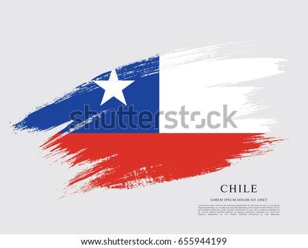 flag chile brush stroke background stock vector royalty free