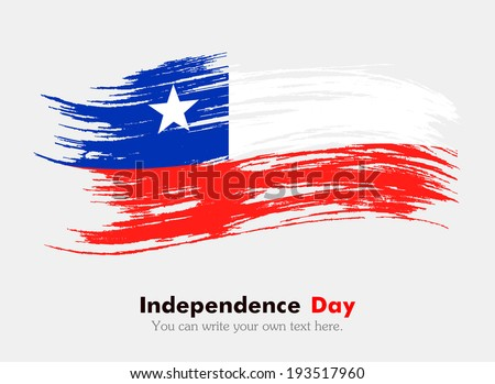 flag chile flag grungy style independence stock vector royalty free