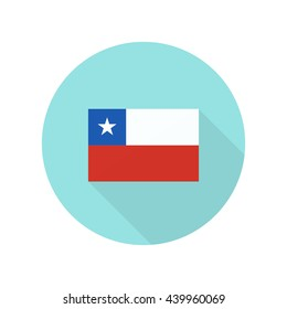 flag of Chile icon. vector illustration