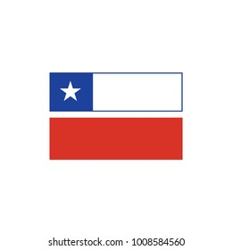 Flag of Chile Logo Icon