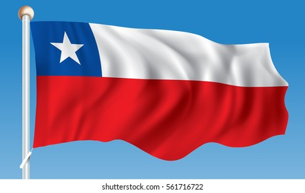 Flag of Chile - vector illustration