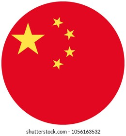 Flag of China in circle