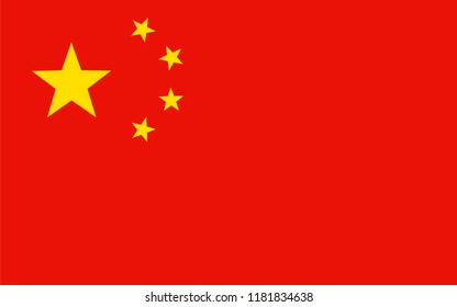 Flag of china, flat icon. Simple, vector illustration for web or mobile app