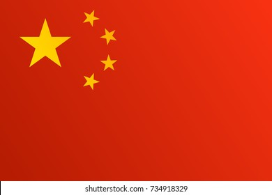 Flag of China with transition color - vector graphic