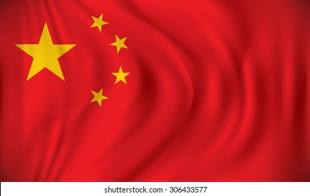 Flag of China - vector illustration