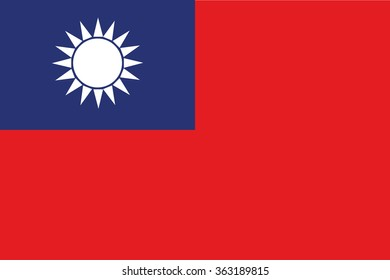 Flag of Chinese republic, Taiwan