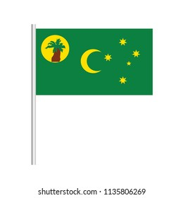 Flag of Cocos Islands.Cocos Islands Icon vector illustration,National flag for country of Cocos Islands isolated, banner vector illustration. Vector illustration eps10.