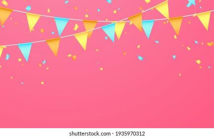 flag color concept design template holiday Happy Day, background Celebration Vector illustration.